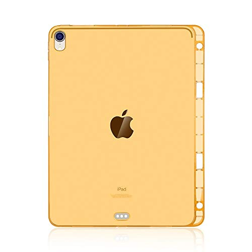 un known Highly Transparent TPU Soft Protective Case for iPad Pro 11 inch (2018) with Pen Slot Accessory Same Parts From Original Factory (Color : Gold)