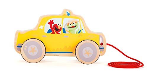 Small Foot- Rue Sesame Taxi Marque Bois, 100% certifié FSC, Jouet à Tirer pour Enfants à partir de 1 an, 10979, Multicolore