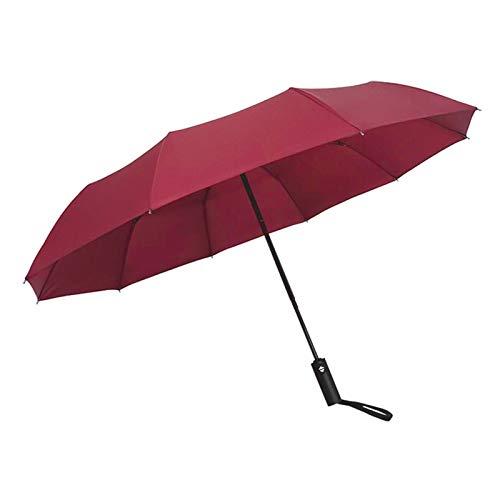 WWDKF Der Vollautomatische Regenschirm Aus Vinyl, Der Regen- Und Winddicht Im Freien Ist, Kann UV-Strahlen Effektiv Blockieren,K