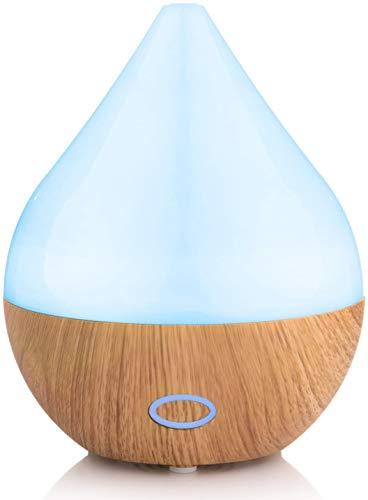 No/Brand Diffusore di aromi ad ultrasuoni da 165 ml - umidificatore con Luce LED a 7 Colori - Lampada profumata elettrica per Oli Essenziali - aromaterapia per casa, Ufficio, Spa