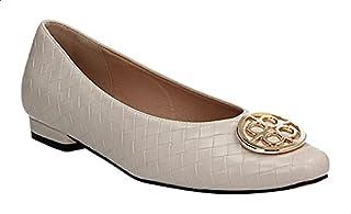 حذاء باليرينا جلد صناعي فلات مزين بحلية معدن للنساء من ديجافو