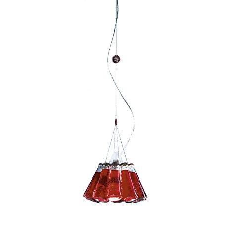 Campari Light Pendelleuchte, rot Glas Ø 23cm Abhängungslänge 155cm