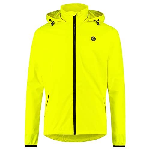 AGU GO Essential Regenjacke Damen & Herren, Fahrradjacke Wasserdicht & Winddicht, Atmungsaktiv, Reflektierend, Unisex, M, Gelb
