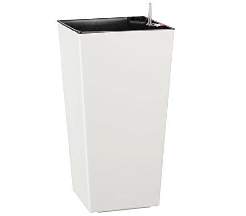 Dehner Kunststofftopf Elise mit Selbstbewässerungs-System, ca. 46 x 25 x25 cm, weiß