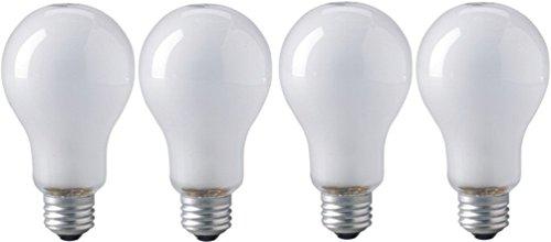 EiKO ECT Photoflood Lamp (4-Pack), 120 Voltage Rating, 500 Watts, 4.17 Amps, Medium Screw (E26) Base, PS-25 Bulb, C-9 Filament, 6.10'/155mm MOL, 3.15'/80.0mm MOD, 13650 Lumens, 60 Rated Life