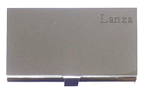 Engraved Business Card Holder. Engraved name: Lanza (first name/surname/nickname)
