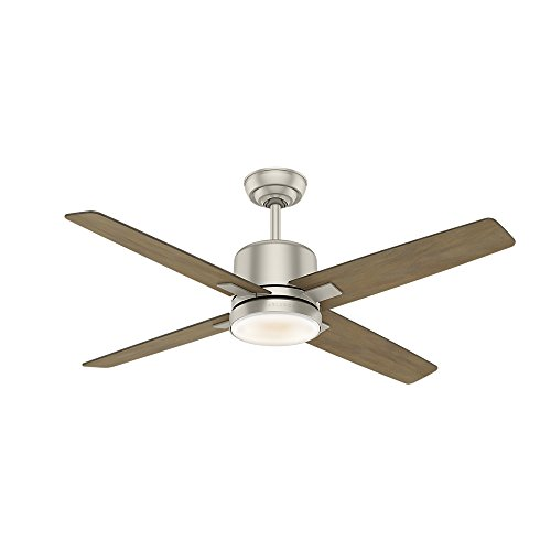 Casablanca Indoor Ceiling Fan with LED Light and wall control - Axial 52 inch, Matte Nickel, 59342