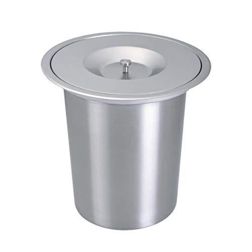 Cubo de Basura Integrado en el Escritorio, Cubo de Basura de Acero Inoxidable Cubo de Limpieza de protección Ambiental Incorporado en el Escritorio Oculto para el baño de la Cocina doméstica