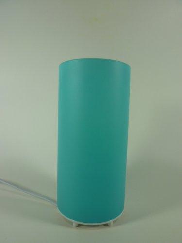 Glas Tischleuchte Kevin-klein blau - türkis, Zylinder Leuchte für Energiespar Leuchtmittel, E14, max. 7W