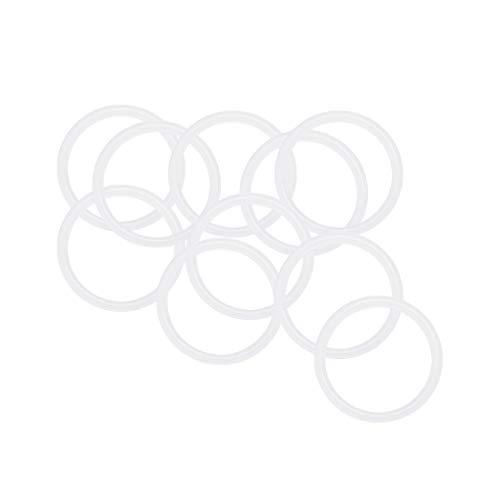 1,5mm Breite Dichtung Wei/ß Silikon O-Ringe 23mm Au/ßendurchm 20mm Innendurchm sourcing map 30stk