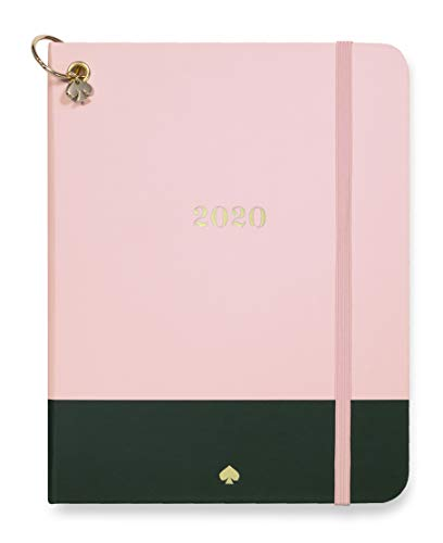 Kate Spade New York 12 Month Medium Hardcover Annual Planner, January 2020 – December 2020 with Daily, Weekly, Monthly Spreads, 7.5' x 5', Color Block