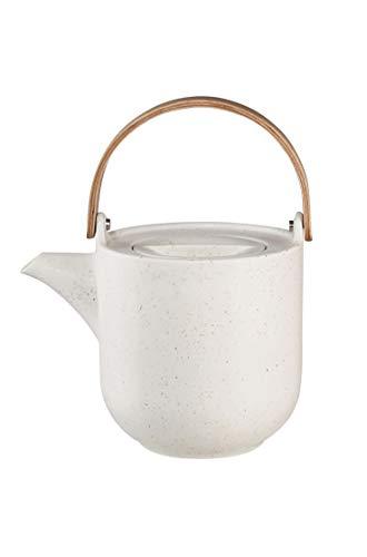 ASA coppa Teekanne mit Holzgriff sencha Porzellan 1l, Weiß, 19370193