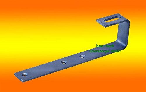 bau-tech Solarenergie 10 Stück Edelstahl Dachhaken A2 für Schiefer oder Schindeln Solar PV Montage GmbH