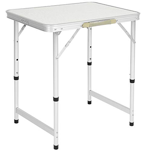Best Choice Products 23.5x17.5in Portable Aluminum Folding Table w/Handle