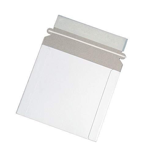 Maxtek CD/DVD Disc White Cardboard Mailers, 6 x 6 3/8 Inches, Self Seal Adhesive Flap, 25 Pack.