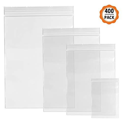 400pcs Bolsas de Plastico Pequeñas Bolsas Zip