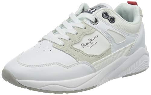 Pepe Jeans London ORBITAL White Boy Sneaker, 800WHITE, 32 EU