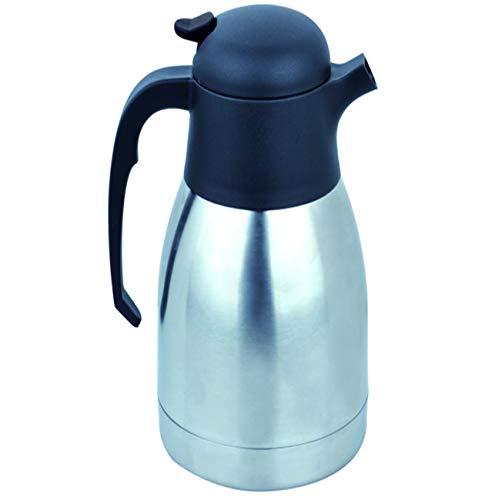 Mack 2L Edelstahl Thermoskanne/doppelwandige Vakuum Isolierkanne/Kaffeekanne mit 12 Stunden Wärmespeicherung / 2 Liter Thermos