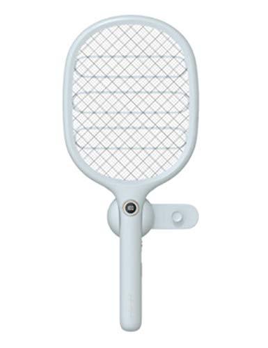 FOUWE Wandhalterung tragbar für Zuhause Wiederaufladbare elektrische Mückenklatsche USB-Aufladung multifunktional Elektrische Fliegenklatsche integriertes LED-Licht Moskito Bug Zapper