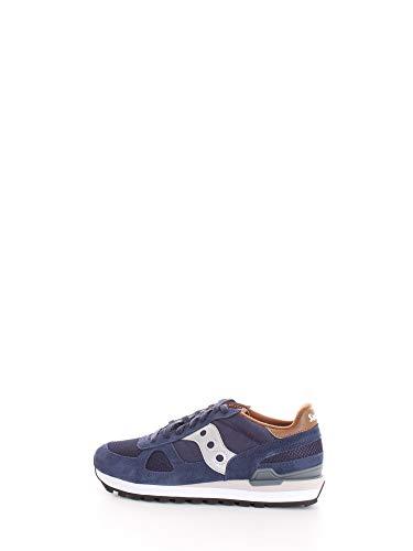 Saucony - Sneakers Shadow Original da uomo, Blu (Blu navy/marrone), 44.5 EU