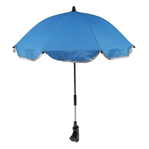 Hellery Premium Sonnenschirm für Kinderwagen Ø 65 cm, Grifflänge: 50 cm - Blau, 65 cm