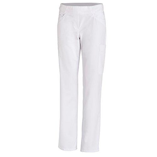 Leiber Damenhose | Classic-Style | 7 Taschen | Weiß | Größe : 40 | Waschmaschinen geeignet