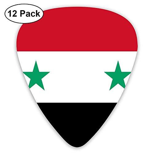 Syrische Flagge 12 Stück personalisierte GitarrenpicksGuitar Pick Zubehör Variety Pack