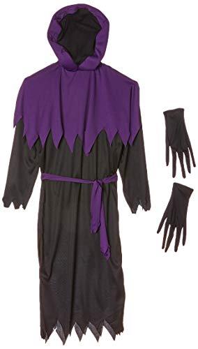 Widmann Costume Maître Phantom pour Enfant Tunique avec Capuche Masque occultant et Ceinture
