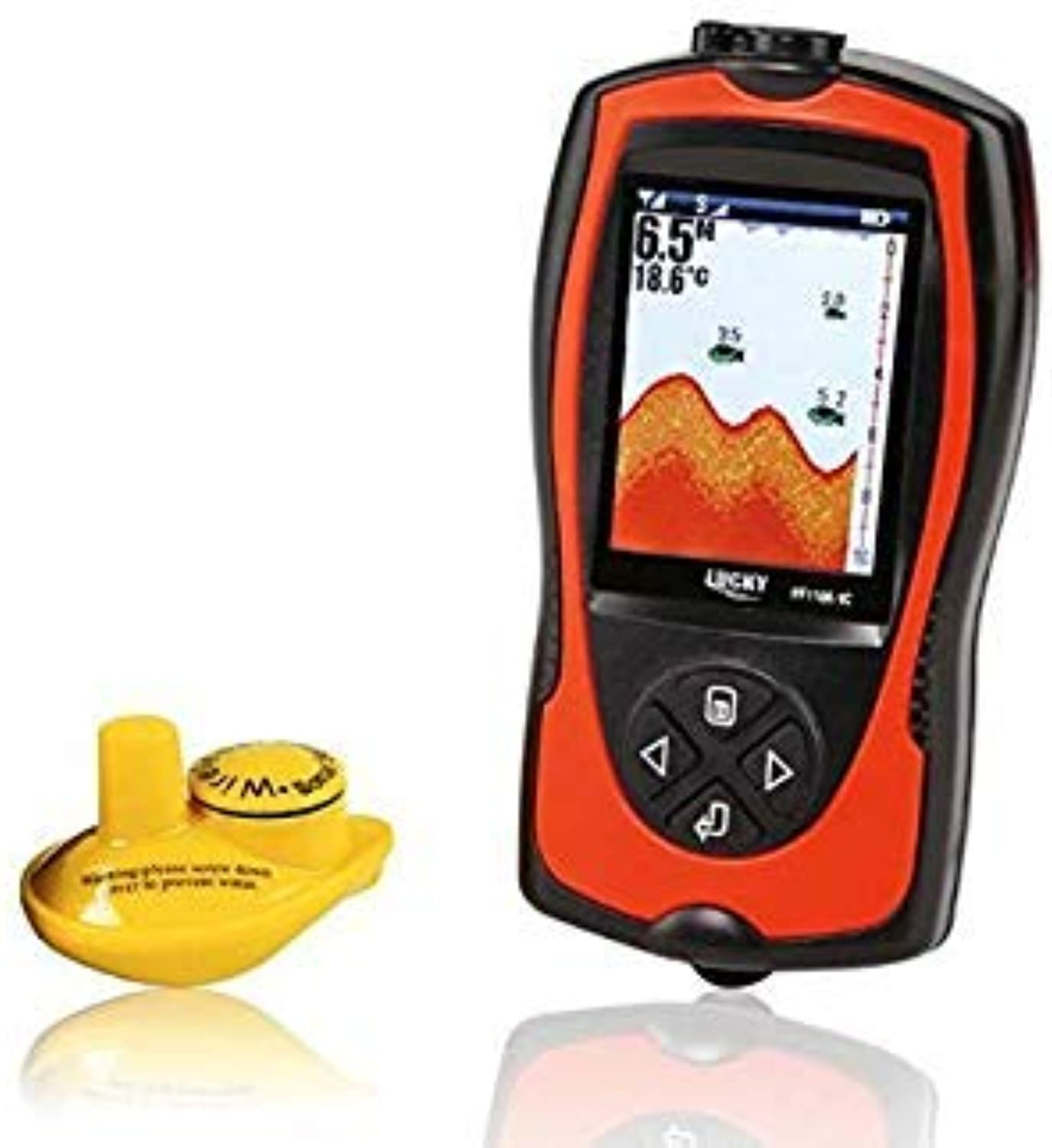 GEOPONICS Lucky FF11081CW Russian Version colord Wireless Fish Finder Operational Range 100 m Rechargeable Battery Portable