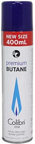 Colibri GAZ400 Premium Butane für alle nachfüllbaren Butane Feuerzeuge 400ml + All u need Schlüsselanhänger (1)