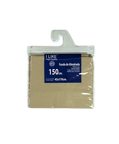 I LIKE Funda DE Almohada Color Lino 100% ALGODÓN Cama 150 (45 X 170 cm)