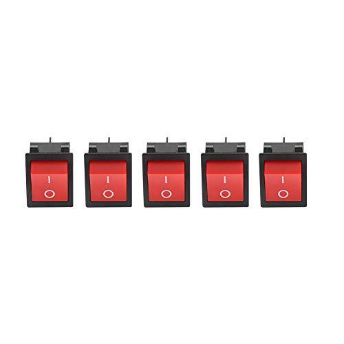 LANTRO JS - Kipphebelschalter, 30A Schweißerschweißmaschine EIN/AUS 4-poliger Kipphebel vom Bootstyp(5 STÜCKE)
