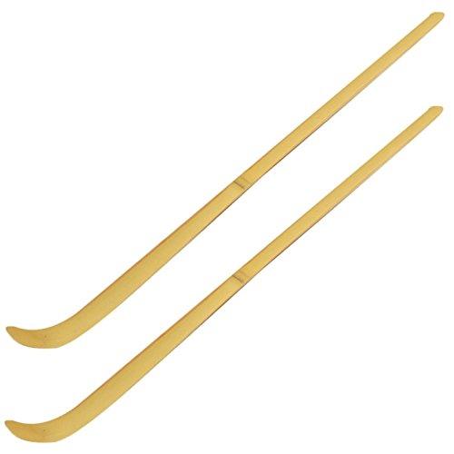 2er-Set teevendo Traditioneller Matchalöffel aus Bambus (Dosierlöffel für die perfekte Portion Matcha)