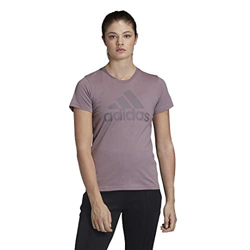 adidas W Badge of Sport T-Shirt en Coton pour Homme Coupe Droite, Homme, Chemise, IEX82, Violet, XXS
