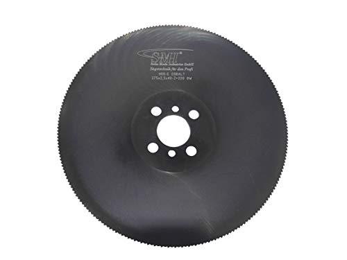 Metall-Kreissägeblatt HSS-E Cobalt 275 x 2,5 x 40 mm 220 Zähne Sägeblatt Kreissägeblatt Metallsägeblatt geeignet für die Edelstahlbearbeitung