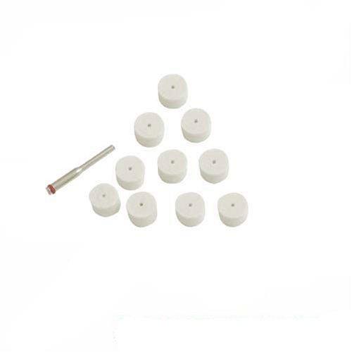 Silverline 793800 Discos Pulidores de Fieltro para Herramienta Rotativa, Diámetro 13 mm, 11 Piezas