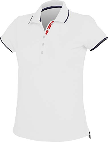 Kariban Polo Maille PIQUÉE Manches Courtes Femme - White/Navy/White, XS, Femme