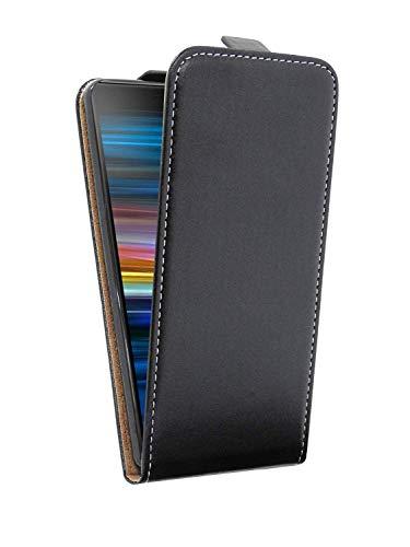 cofi1453® Flip Hülle kompatibel mit Sony Xperia 10 Handy Tasche vertikal aufklappbar Schutzhülle Klapp Hülle Schwarz