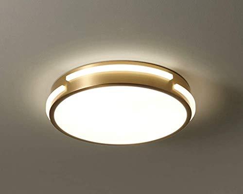 Lámpara de techo LED de latón para dormitorio antiguo, accesorio de iluminación regulable, plano, ultra delgado, redondo, lámpara de techo, pasillo, cocina, pasillo, estudio, escalera, guardarropa, b