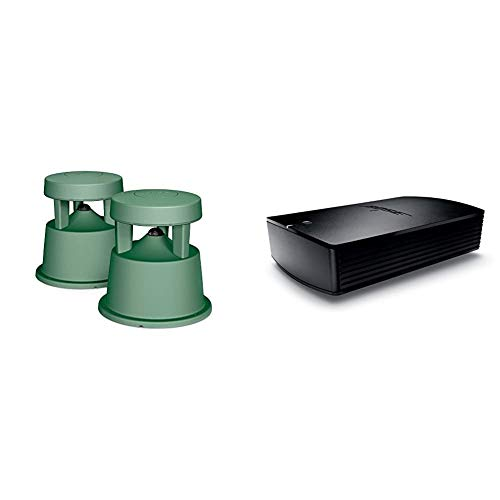 Bose Free Space 51 Outdoor In-Ground Speakers (Green) - 31763 Bundle with Bose SoundTouch SA-5 Amplifier, Works with Alexa, Black