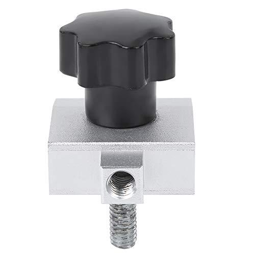 Cloudbox Abrazadera de medidor de Empuje SJJ-012 Abrazadera de medidor de tensión de Empuje Abrazadera de micrómetro de Accesorio de Acero Inoxidable para Prueba de Fuerza