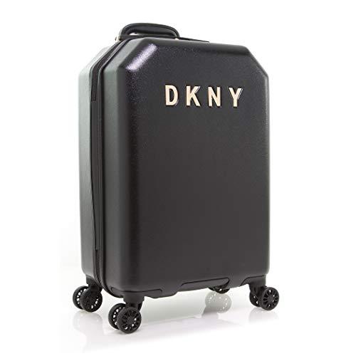 DKNY Chaos Hardside Spinner Luggage with TSA Lock, Black, 22 Inch