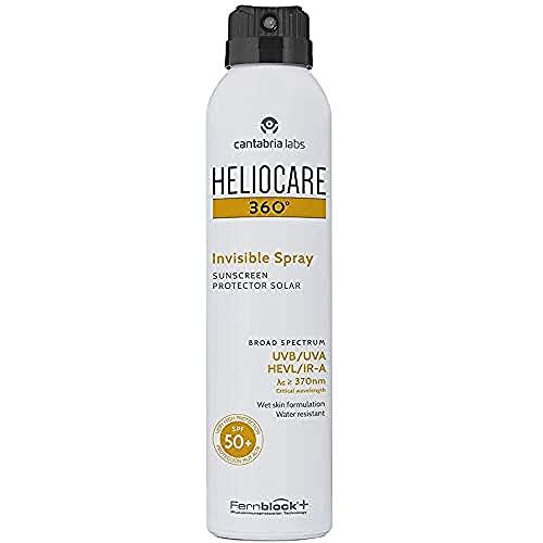 Heliocare 360º Invisible Spray Spf 50+ - Spray Fotoprotector Transparente Fácil De Aplicar, Sin Color, 200 Mililitro