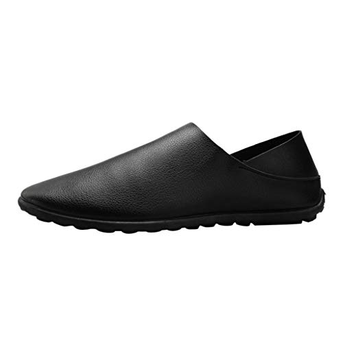MENICY schuhe herren Push-on PU faule Schuhe flacher Mund weiche Oberfläche Freizeitschuhe Pedal Leder Nähte Faule Schuhe Flache Mündung Weiche Freizeitschuhe