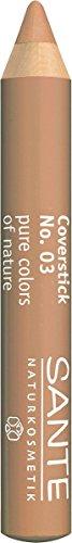 SANTE Naturkosmetik Coverstick Nr.03 beige, Zur Abdeckung von Augenringen, kleinen Äderchen & Pigmentflecken, Bio-Extrakte, 2g