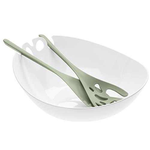 koziol 3869344 SHADOW Salatschüssel mit Besteck 3,5l Thermoplastischer Kunststoff