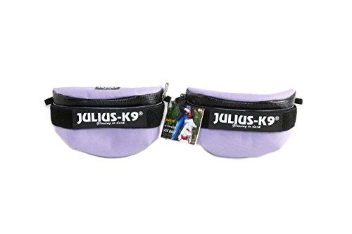 Julius-K9, 1621IDC-G-PR, IDC Universal Side Bags, 1 Pair, Harness Size: Mini - 4, Purple