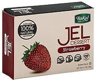Bakol Jel Dessert 0.3 oz. Vegan & All Natural - Pack of 3 (Strawberry)