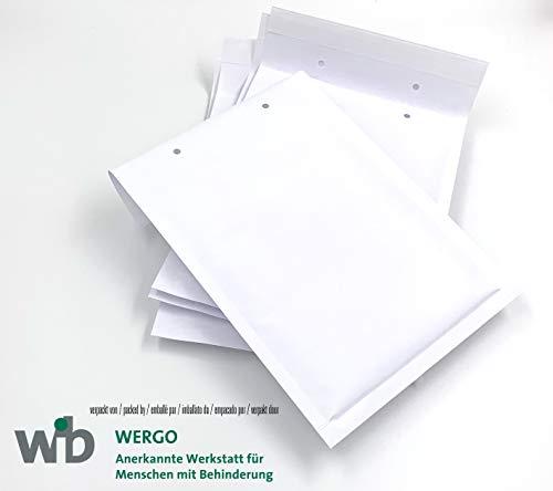 Luftpolster-Versandtaschen, Luftpolsterumschläge, 225 x 170 mm, C5, weiß, mit Abziehstreifen (10)
