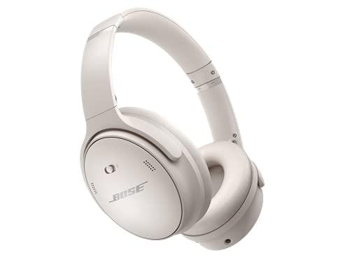 Bose QuietComfort 45 Auriculares inalámbricos Bluetooth con cancelación de ruido y micrófono para llamadas, blanco